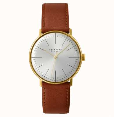 Junghans Max Bill Handaufzug Leather Strap Watch 27/5703.04