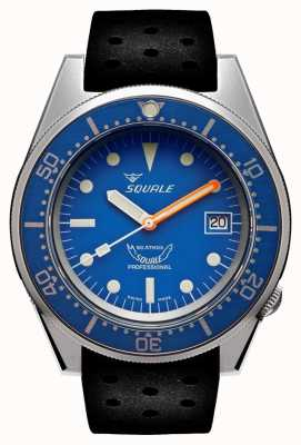 Squale BLUE BLASTED | Automatic | Blue Dial | Black Silicone Strap 1521BLUEBL.NT-CINTRB20