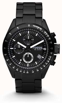 Fossil Mens Black Chronograph Watch CH2601