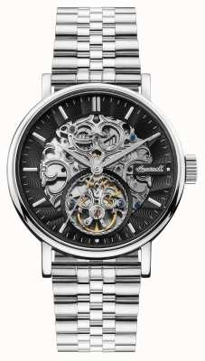 Ingersoll | The Charles Automatic | Black Skeleton Dial | Steel Strap I05804B