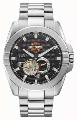 Harley Davidson Men's Automatic Throttle | Stainless Steel Bracelet 76A166