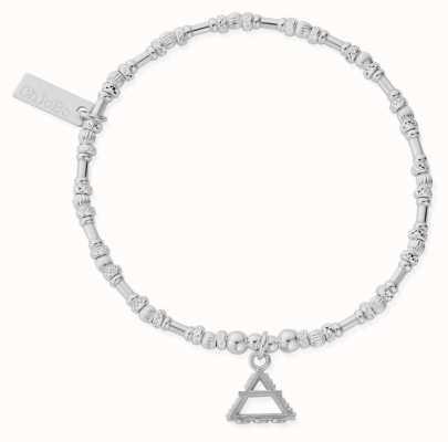 ChloBo Noodle Bead Air Bracelet | Sterling Silver SBNB3100