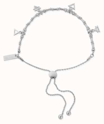 ChloBo Multi Charm Elements Adjuster Bracelet | Sterling Silver SBAMUL4
