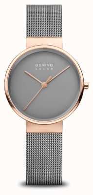 Bering Women's Grey Mesh Solar Watch 14331-369
