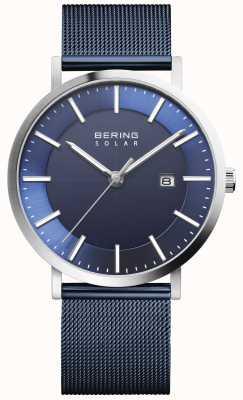 Bering Solar Men's Blue Dial Date Watch 15439-307