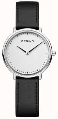 Bering Women's Classic Black Leather Strap Watch 15729-404