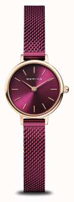 Bering Classic | Women's | Polished Rose Gold | Purple Mesh 11022-969