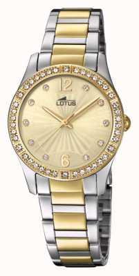 Lotus Women's Gold And Silver Steel Watch Bracelet L18384/1