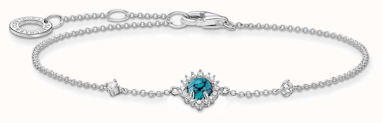Thomas Sabo Silver Turquoise Zirconia Bracelet A2023-405-17-L19V