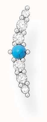 Thomas Sabo Silver Turquoise Zirconia Turquoise Single Ear Stud H2182-405-17