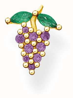 Thomas Sabo Gold Plated Grapes Single Ear Stud H2189-472-7