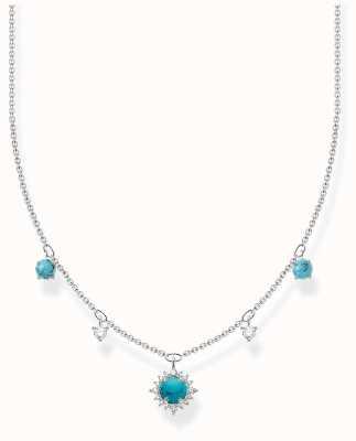 Thomas Sabo Silver Turquoise Zirconia Necklace KE2094-405-17-L45V
