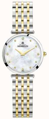 Michel Herbelin Epsilon | Mother Of Pearl Dial | Two Tone Steel Bracelet 17116/BT89