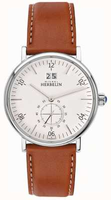 Michel Herbelin Montmartre | Cream Dial | Brown Leather Strap 18247/11GO