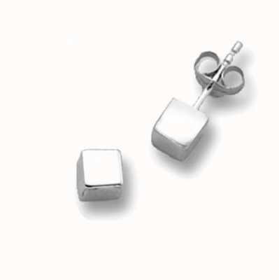 Treasure House 9ct White Gold Cube Stud Earrings ES262SW