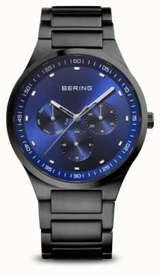 Bering Classic | Men's | Brushed Black | Blue Dial 11740-727