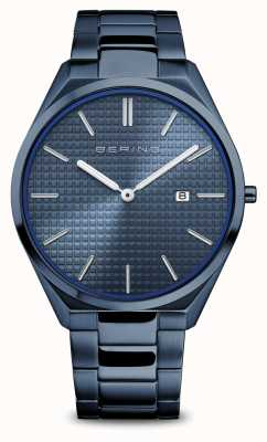 Bering Ultra Slim | Men's | Polished/Brushed Blue | Blue Dial 17240-797