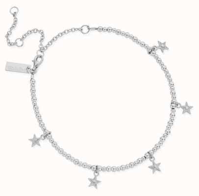 ChloBo Mini Cute Multi Star Anklet   Sterling Silver SANMC3028