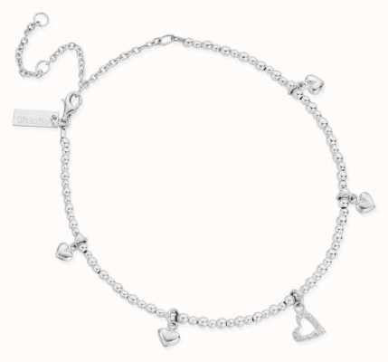 ChloBo Mini Cute Multi Heart Anklet   Sterling Silver SANMC1199399