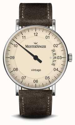 MeisterSinger Men's | Vintago | Suede | Leather Strap MEISTERSINGER VT903- SV02