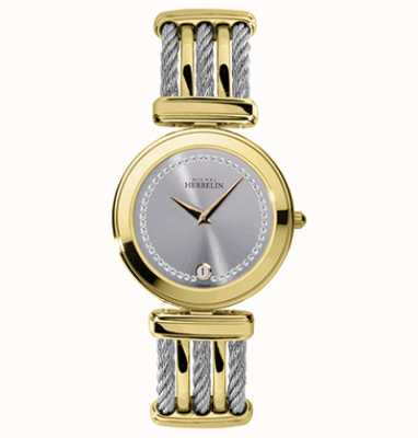 Michel Herbelin Cable | Silver Dial | Two Tone Steel Cable Bracelet 19415/BT62