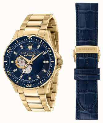 Maserati SFIDA Diamonds Gold-Plated Watch R8823140004