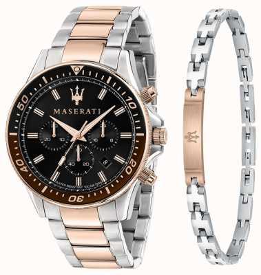Maserati SFIDA Men's Gift Set Bracelet and Watch R8873640010