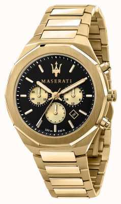 Maserati Stile Chronograph Men's Yellow Gold Plated R8873642001