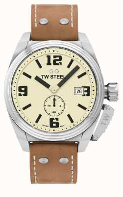 TW Steel Men's Canteen Brown Leather Strap TW1000