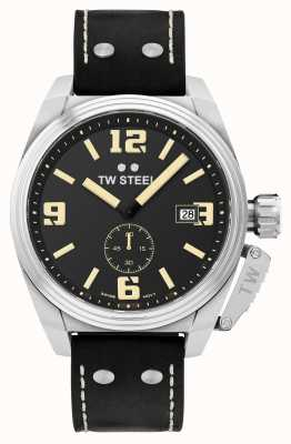 TW Steel Men's Canteen Black Leather Strap TW1001