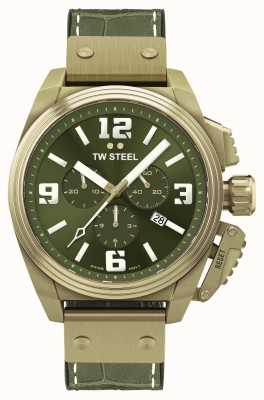 TW Steel Canteen Bronze PVD Plated Green Dial TW1015