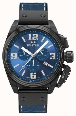 TW Steel Canteen Black PVD Plated Blue Dial TW1016
