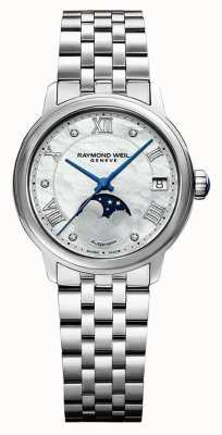 Raymond Weil Women's | Maestro | Auto | Moonphase | Mother Of Pearl Dial | Stainless Steel 2139-ST-00965