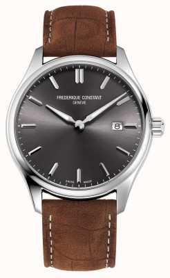 Frederique Constant Classics Quartz | Brown Leather Strap | Grey Dial FC-220DGS5B6