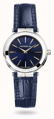 Michel Herbelin Newport Women's Blue Leather Strap Blue Dial Watch 16922/T15BL