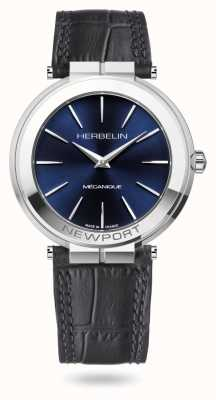 Michel Herbelin Newport Slim 42mm Blue Dial Watch 1222/AP15