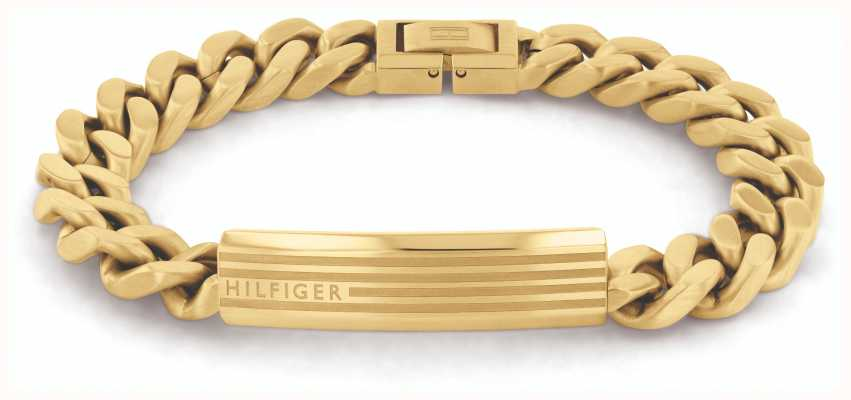 Tommy Hilfiger ID Gold IP Stainless Steel Bracelet 2790346