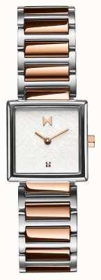 MVMT Frost Square Case Rose Gold Plated Steel Bracelet 28000147-D
