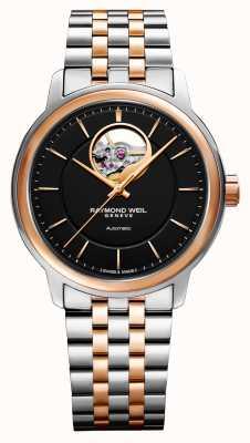 Raymond Weil Maestro Men's Dual Tone Black Dial Watch 2227-SP5-20021