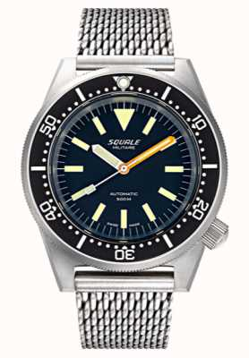 Squale Men's Automatic 1521 Militaire Bead Blasted Mesh 1521MILIBL.ME20