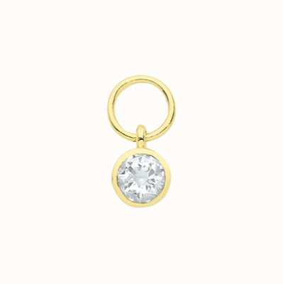 James Moore TH 9ct Yellow Gold Bezel Cubic Zirconia Earring Charm EPN0013