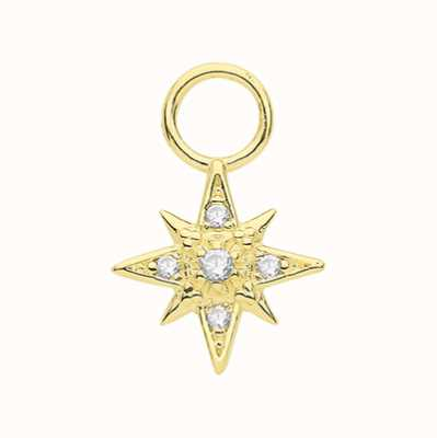 James Moore TH 9ct Yellow Gold Cubic Zirconia Star Earring Charm EPN0016