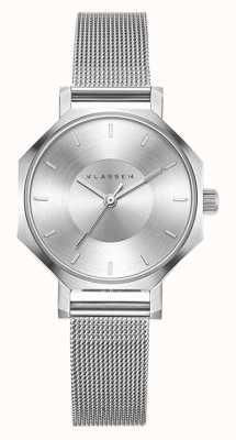 Klasse14 Okto 28MM Silver Mesh Bracelet OK17SR001S