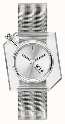 Klasse14 K14 Silver Milanese Mesh Bracelet 40mm WKF20SR001M