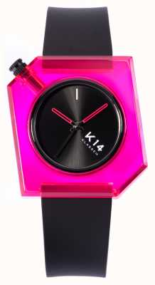 Klasse14 K14 Pink Doll 40mm Black Silicone Strap WKF19PK001M