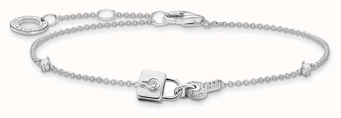 Thomas Sabo Sterling Silver | Padlock And Key Charm Bracelet A2040-051-14-L19V