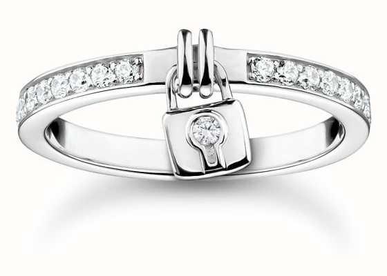 Thomas Sabo Charm Club | Sterling Silver | Padlock Ring TR2371-051-14-54