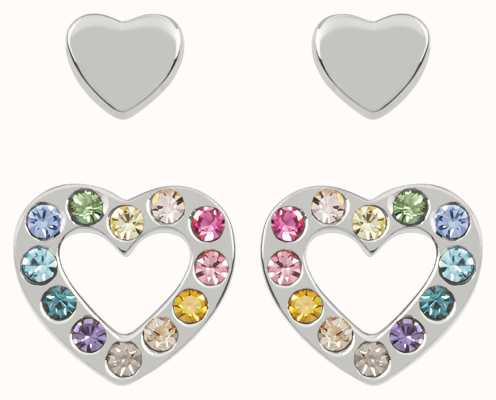 Radley Jewellery Love Radley   Sterling Silver Hearts Stud Earring Set   Multicolored Stones RYJ1175