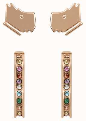 Radley Jewellery Love Radley   Rose Gold Plated Dog Head & Heart Stud Earrings Set RYJ1184S