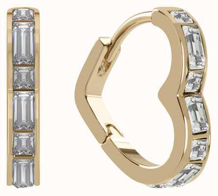 Radley Jewellery Radley Rocks   Gold Plated Sterling Silver Heart Earrings   White Stones RYJ1188S